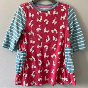 🆕 Mini Boden llama tunic dress 3-4Y